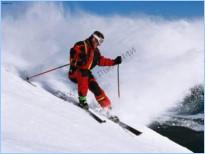 Подогрев лыж горелкой