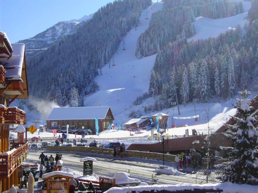 Красота лыжных курортов Франции
